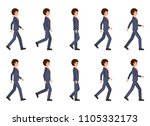 young man in dark blue suit... | Shutterstock .eps vector #1105332173