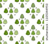 fir tree seamless pattern.... | Shutterstock . vector #1105344953