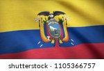 ecuador flag waving animation.... | Shutterstock . vector #1105366757
