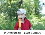 close up portrait of toddler... | Shutterstock . vector #1105368803