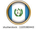 a 3d gold round button with the ... | Shutterstock .eps vector #1105380443