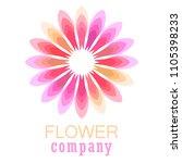 colorful flower logo  symbol ... | Shutterstock .eps vector #1105398233