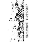 black musical notes on white...   Shutterstock .eps vector #1105400837