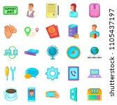 ubiquitous globalization icons...