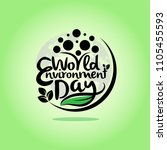 hand draw world environment day ... | Shutterstock .eps vector #1105455593