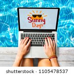 woman searching for a summer... | Shutterstock . vector #1105478537