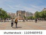 paris   france   may 18  2018 ... | Shutterstock . vector #1105485953
