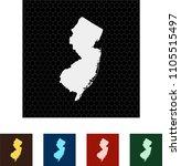 map of new jersey   Shutterstock .eps vector #1105515497