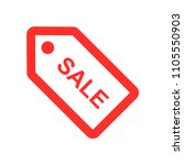 sale tag icon  | Shutterstock .eps vector #1105550903