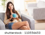 attractive young ethnic woman... | Shutterstock . vector #110556653