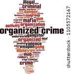 organized crime word cloud... | Shutterstock .eps vector #1105572167
