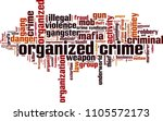 organized crime word cloud... | Shutterstock .eps vector #1105572173