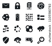 set of simple vector isolated... | Shutterstock .eps vector #1105580783