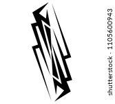 tribal tattoo vector designs... | Shutterstock .eps vector #1105600943