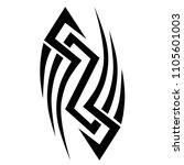 tribal tattoo vector designs... | Shutterstock .eps vector #1105601003