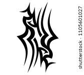 tribal tattoo vector designs... | Shutterstock .eps vector #1105601027