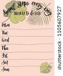 hand drawn weekly list...   Shutterstock .eps vector #1105607927