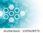 abstract hexagonal molecular...   Shutterstock .eps vector #1105628573