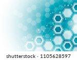 abstract hexagonal molecular...   Shutterstock .eps vector #1105628597