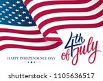 happy 4th of july united states ... | Shutterstock .eps vector #1105636517