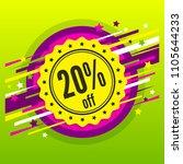 sale 20   off. discount badge ... | Shutterstock .eps vector #1105644233