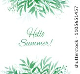 background with green hand... | Shutterstock . vector #1105651457