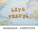 lettering inspiring let's... | Shutterstock . vector #1105671233