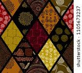 tribal boho seamless pattern in ... | Shutterstock .eps vector #1105673237