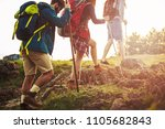 cropped shot of a group of... | Shutterstock . vector #1105682843