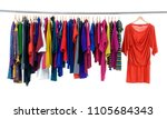 female colorful clothes and... | Shutterstock . vector #1105684343
