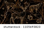 seamless pattern with tree... | Shutterstock .eps vector #1105693823