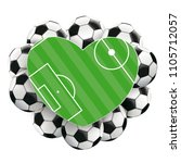 green ground heart with classic ... | Shutterstock .eps vector #1105712057