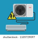 air conditioner vector design 7 | Shutterstock .eps vector #1105729097