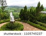 virgin mary statue at caleruega ... | Shutterstock . vector #1105745237