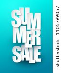 summer sale background. vector... | Shutterstock .eps vector #1105769057