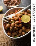 boiled peanut chaat or chatpata ... | Shutterstock . vector #1105770917