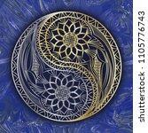 yin yang symbol. vector...   Shutterstock .eps vector #1105776743