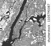 new york city vector map. very... | Shutterstock .eps vector #1105790387