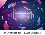 background with orbits and... | Shutterstock .eps vector #1105800887