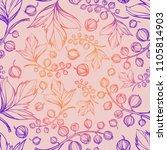 hand drawing botanical gradient ...   Shutterstock .eps vector #1105814903