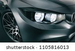 black sports car. high angle... | Shutterstock . vector #1105816013