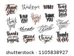 collection of creative thank... | Shutterstock .eps vector #1105838927