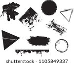 grunge design elements . brush... | Shutterstock .eps vector #1105849337