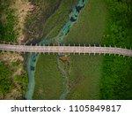 wooden footbridge in zelenci...   Shutterstock . vector #1105849817