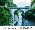 napoleons bridge over river...   Shutterstock . vector #1105849823