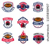 american football emblems.... | Shutterstock .eps vector #1105858907