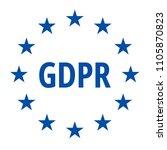 eu gdpr label illustration | Shutterstock .eps vector #1105870823
