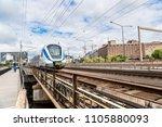 metro train in stockholm ... | Shutterstock . vector #1105880093