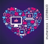 vector social media concept  ... | Shutterstock .eps vector #110588633
