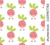 radish in cartoon style...   Shutterstock .eps vector #1105907783